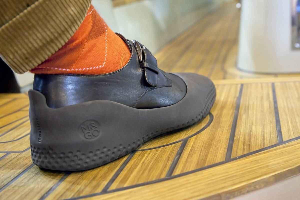 Sur chaussures bateau la mouillère