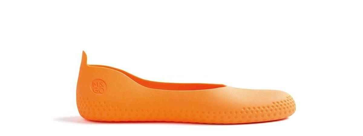 Sur-chaussure orange
